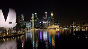 Singapore Night Scenery